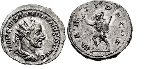 CNG: The Coin Shop  Aemilian  AD 253  AR Antoninianus (22mm